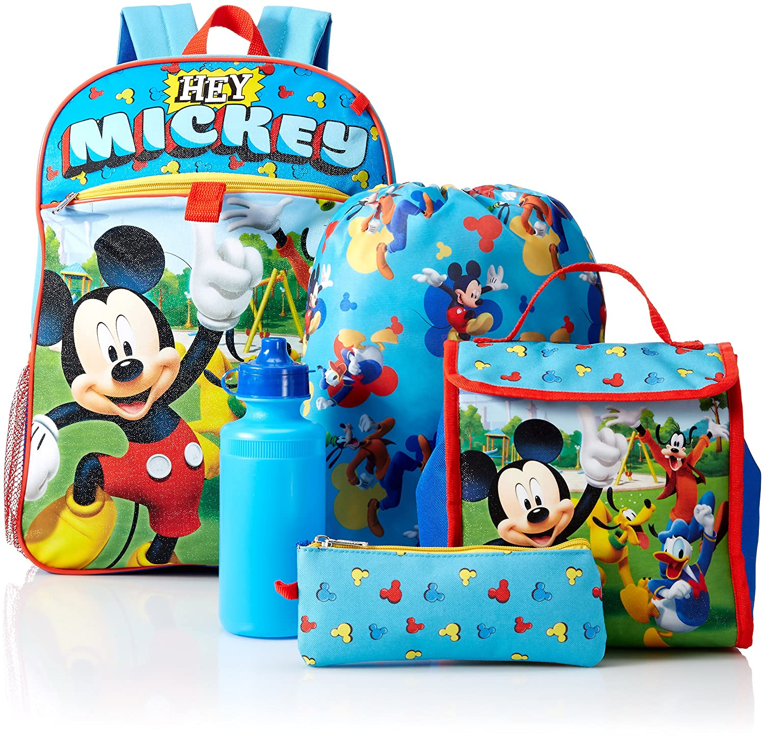 Marvel Boys' Mickey 5 Pc Set Backpack