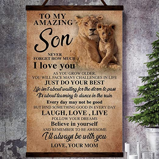 This Old Lion Poster To My Daughter Poster Motivation Quotes Poster Canvas