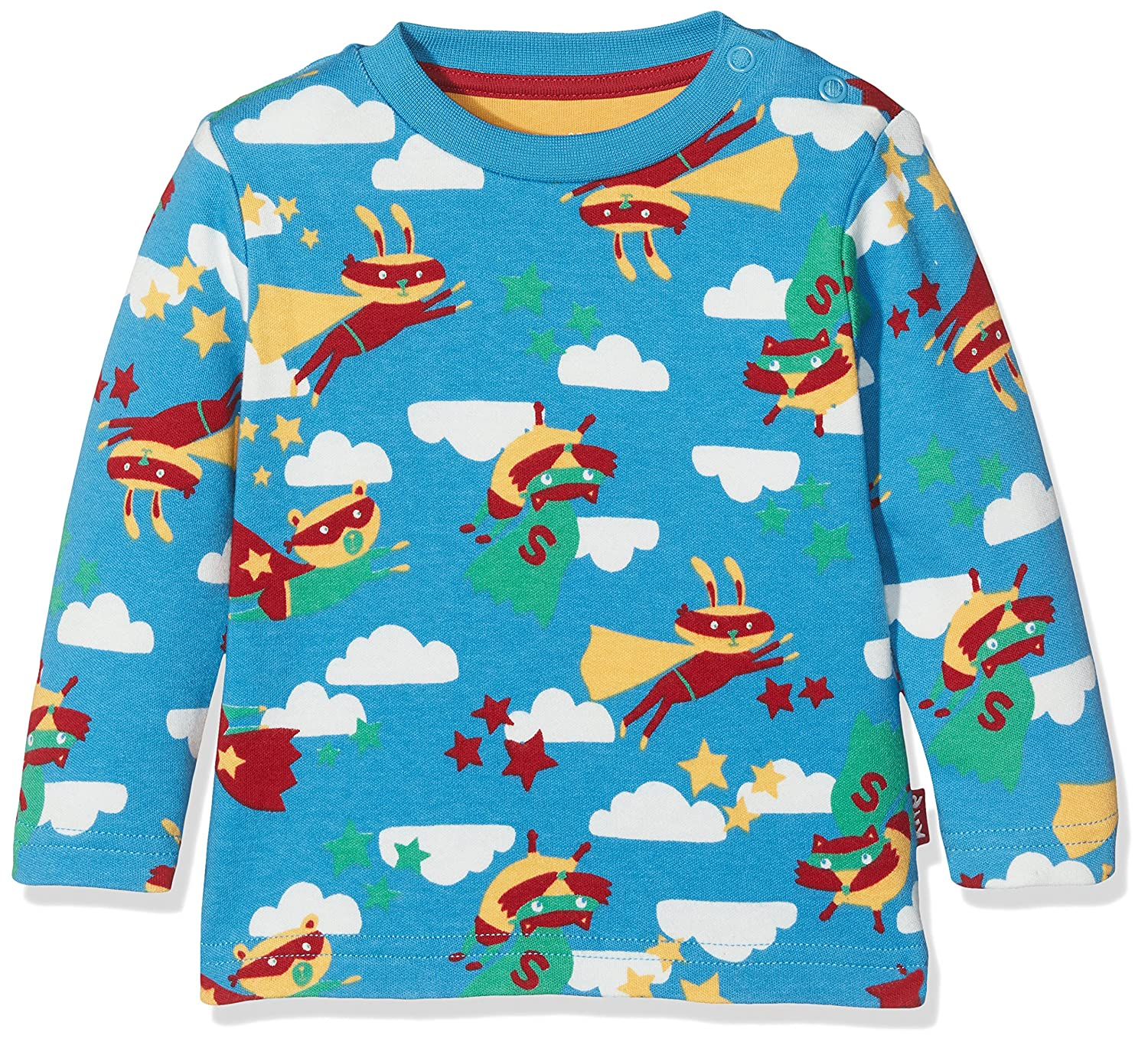 Kite Baby Boys' Superhero Longsleeve T-Shirt Blue (Bluejay) 12-18 Months BB908