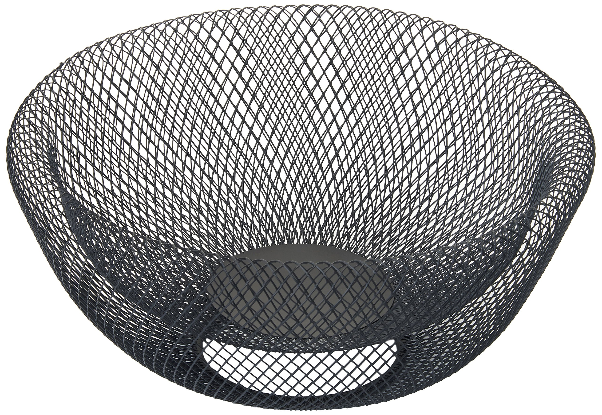 NIFTY 7541BLK Double Wall Mesh Decorative Fruit Bowl, 5 quart/12, Black
