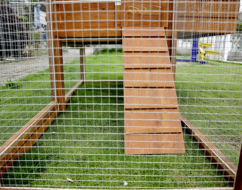 PawHut Gallinero Exterior Madera Integrado Run Limpieza Bandeja Casa para Gallinas Jaula para Animales Pequeños Pollo 168x110.5x101.5cm: Amazon.es: ...