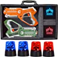 Dynasty Toys Capture The Flag Glow in the Dark Laser Tag Game for Indoor Games at Home / Outdoor Night Birthday Party