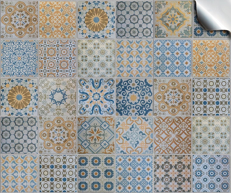 Multi confeziona da 24 pezzi, vari adesivi per piastrelle a mosaico, 15 cm, per 150m2, facili da staccare e applicare per la vostra cucina, bagno o ovunque desiderate, completamente trasformabiliResistenti: resistenti agli oli, al calore, all'acqua e alla