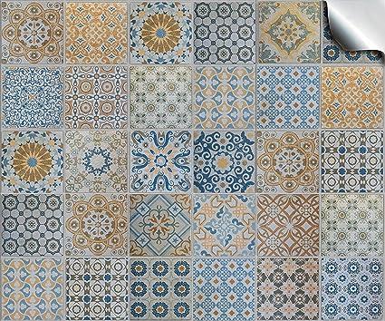 Multi confeziona da 24 pezzi vari adesivi per piastrelle a mosaico