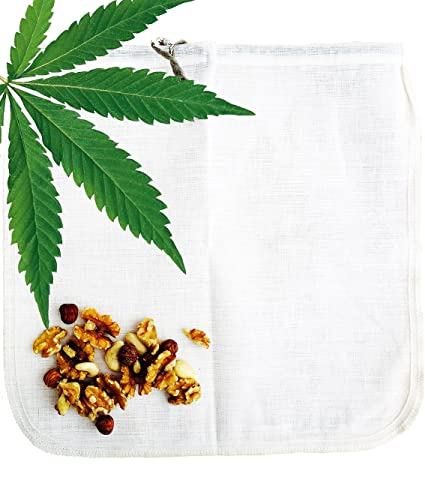 Cáñamo bolsa para leche vegetal Ecocasa - la alternativa ecológica por fabricar leche de almendras –