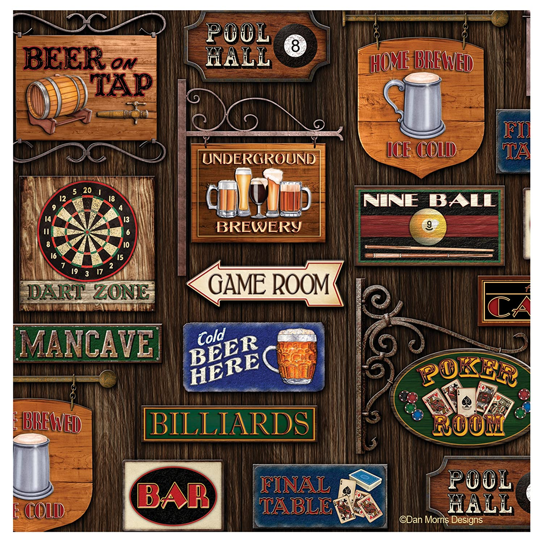 Thirstystone 4-Piece Game Room Round Coaster Set FDY11