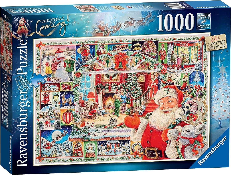 Christmas Puzzles 2020 Amazon.com: Ravensburger Christmas is Coming! 1000 Piece Jigsaw