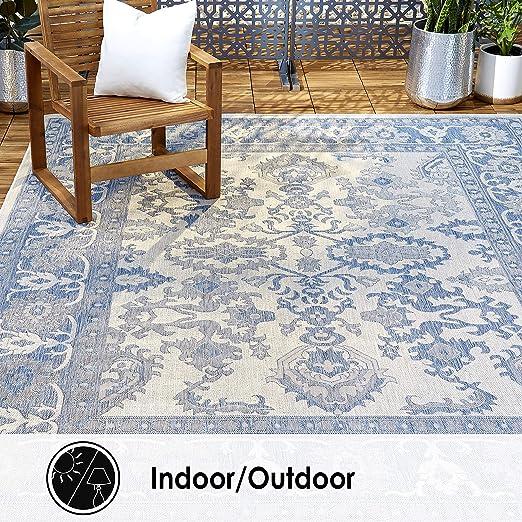 Indoor Outdoor Patio Carpet Flooring Rug Mat Home Decor Stain Resistant 6x8 New