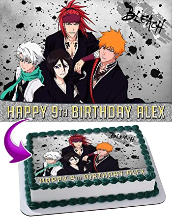 Bleach Anime Edible Image Cake Topper Personalized Birthday 1/4 Sheet  Decoration Custom Sheet Party