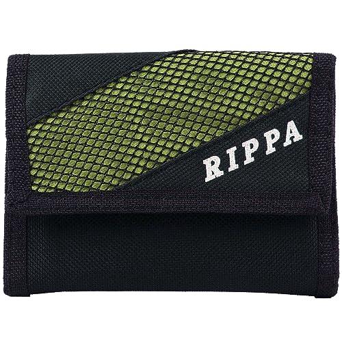 Billetera de lona para hombre Rippa, plegable en tres, estilo clásica Verde verde: Amazon.es: Zapatos y complementos