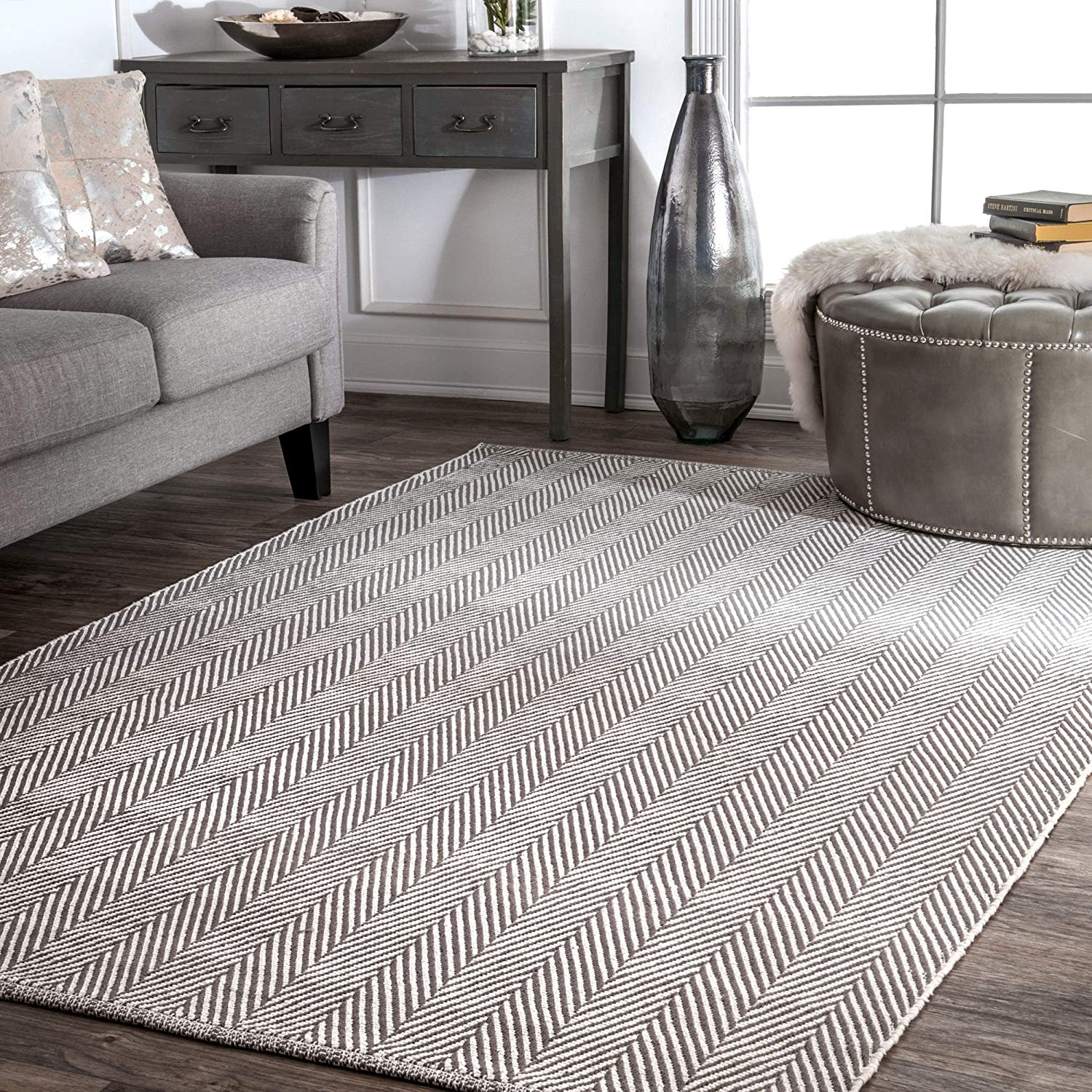 Amazon Com Nuloom Kimberely Hand Loomed Area Rug 9 X 12 Grey Home Kitchen