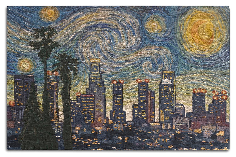 【大注目】 ロサンゼルス Starry、カリフォルニア 10 – スカイライン – 15 Van Gogh Starry Night 15oz Mug LANT-3P-15OZ-WHT-77489 B07367KT69 10 x 15 Wood Sign 10 x 15 Wood Sign, クズウマチ:7d6dd175 --- podolsk.rev-pro.ru
