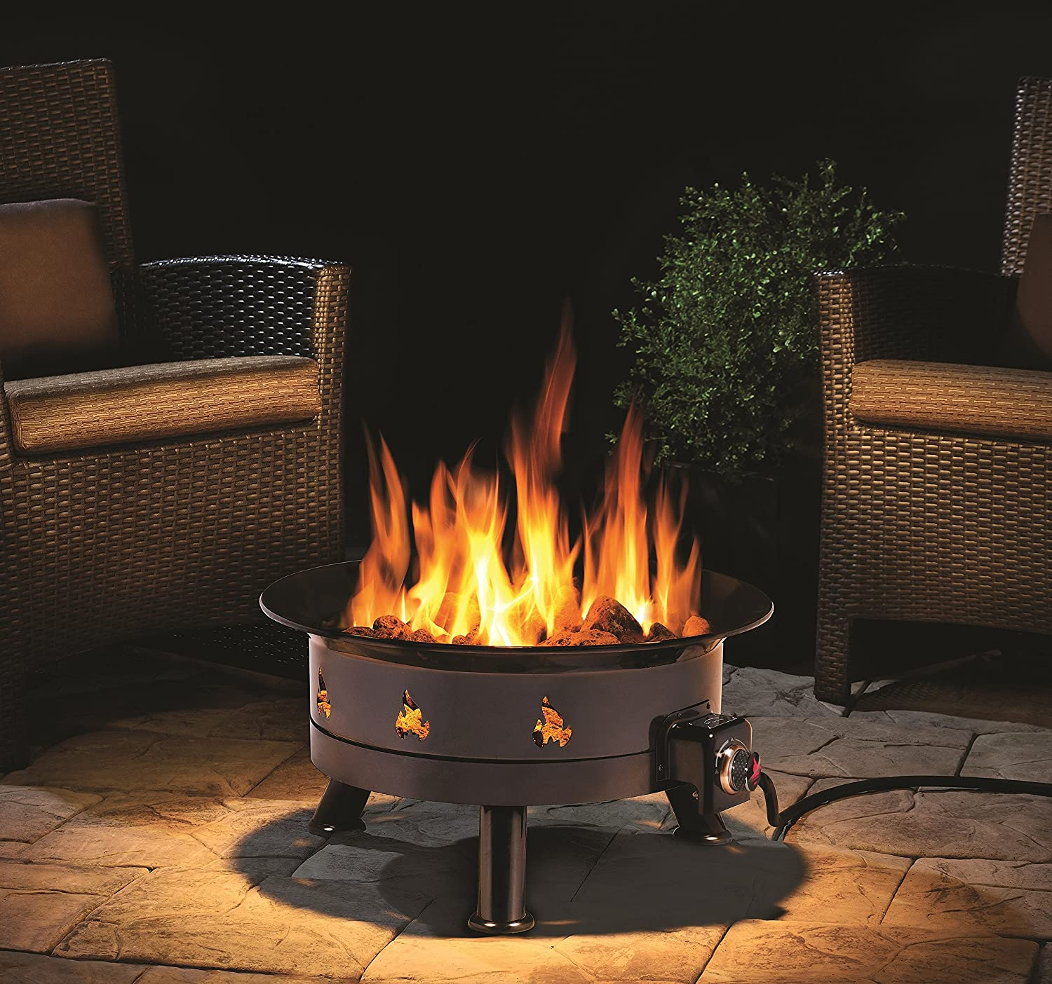 Black Outland Living 762 UV and Weather Resistant Cypress ... on Outland Living Cypress Fire Pit id=37213