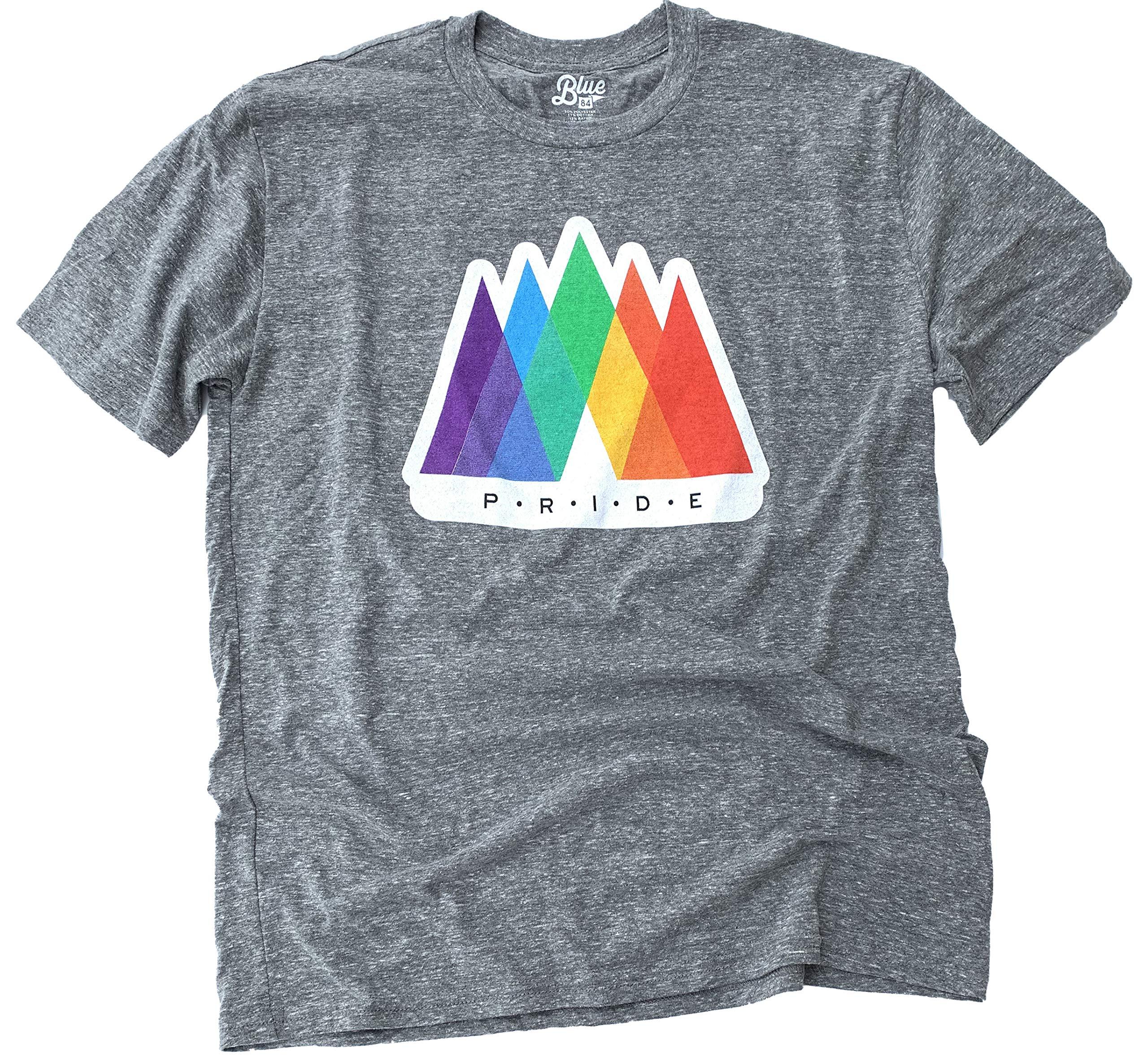 Pride Lgbtq Tshirt In Mountain Rainbow Design