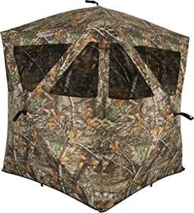 Ameristep AMEBL3000 Care Taker Ground Blind, Hubstyle Blind in Realtree
