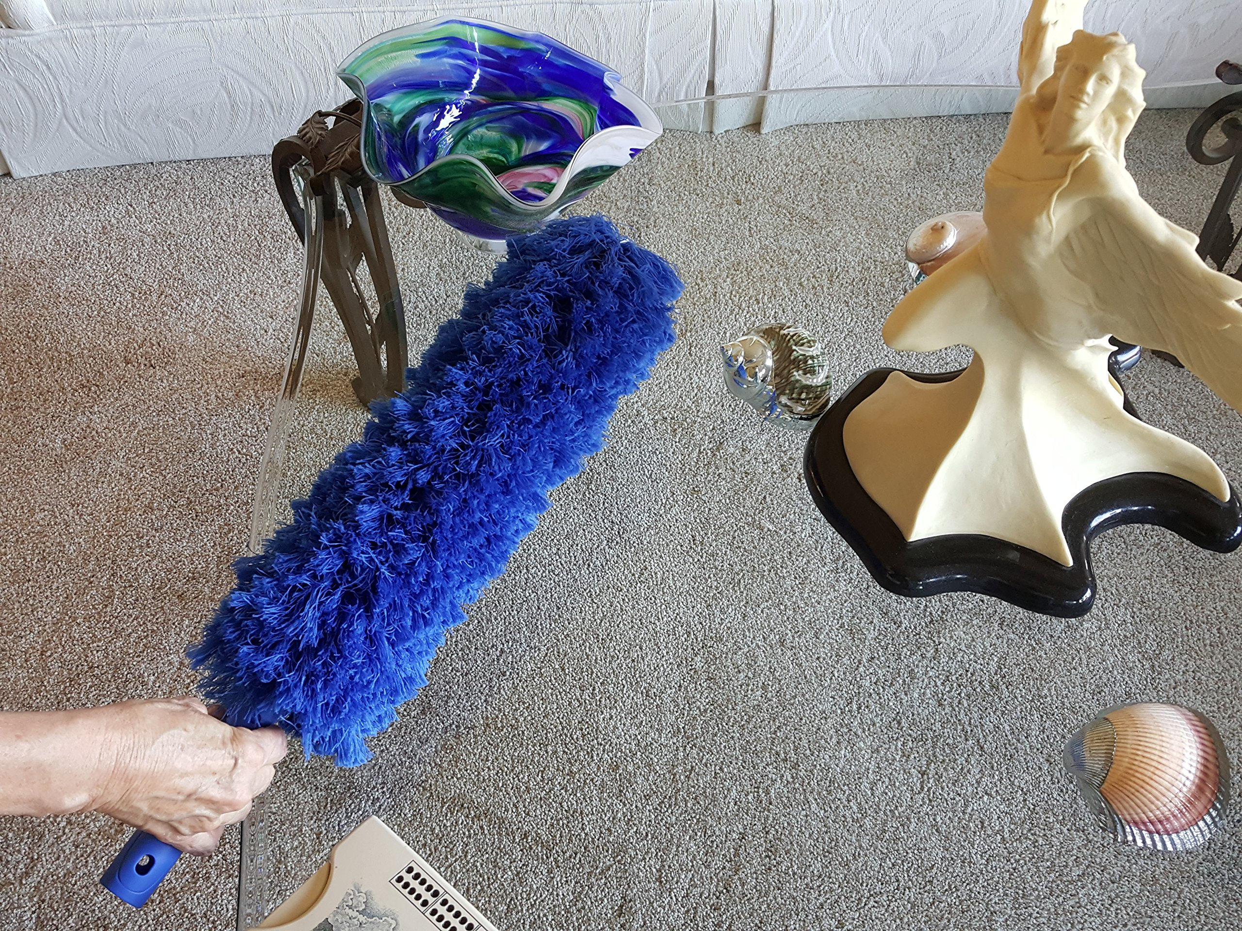 Extension Rod Blue Extension Duster, Extend 18-20 feet Cleaning High ...