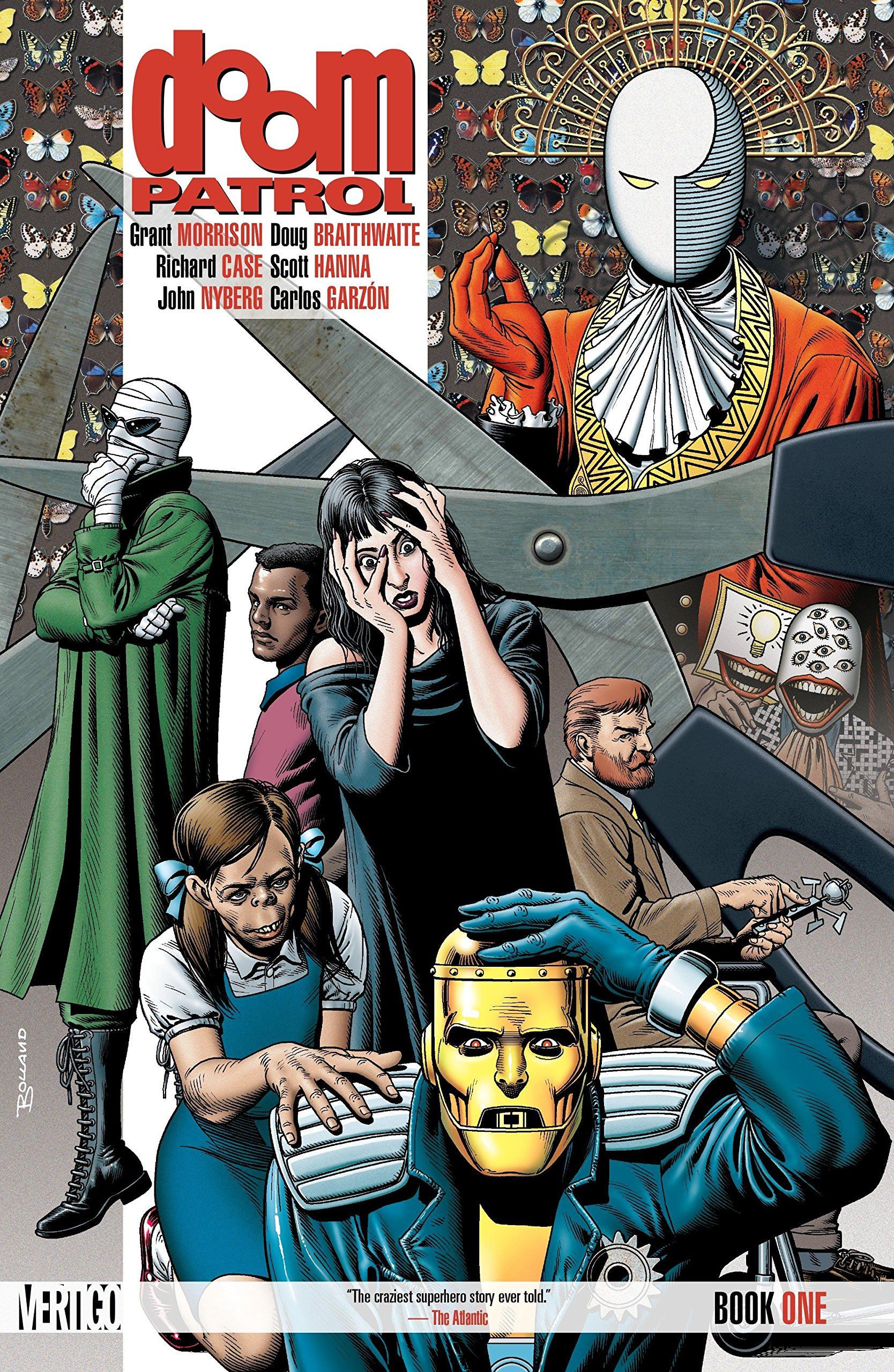 Amazon Com Doom Patrol Book One 9781401263126 Morrison Grant