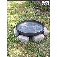 Feuerstelle XXL silber Stahl Fire Pit ✔ rund