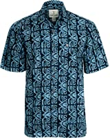 Artisan Outfitters Mens Big Lagoon Batik Cotton Hawaiian Shirt
