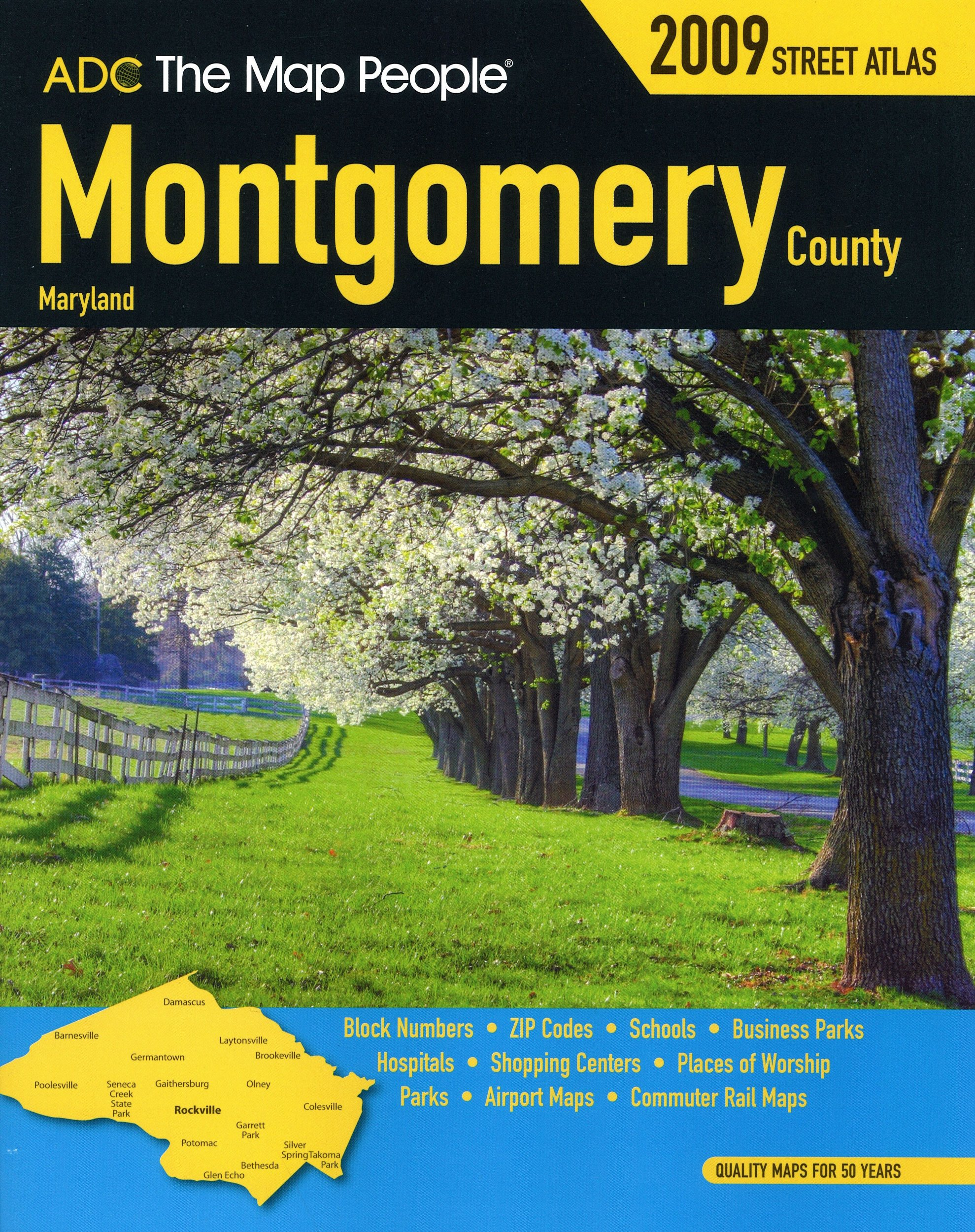 Montgomery County MD Atlas (ADC The Map People): ADC The Map People on