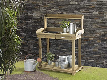 Wooden Potting Bench Outdoor Outdoor Jigsy Goplus Tier Wooden