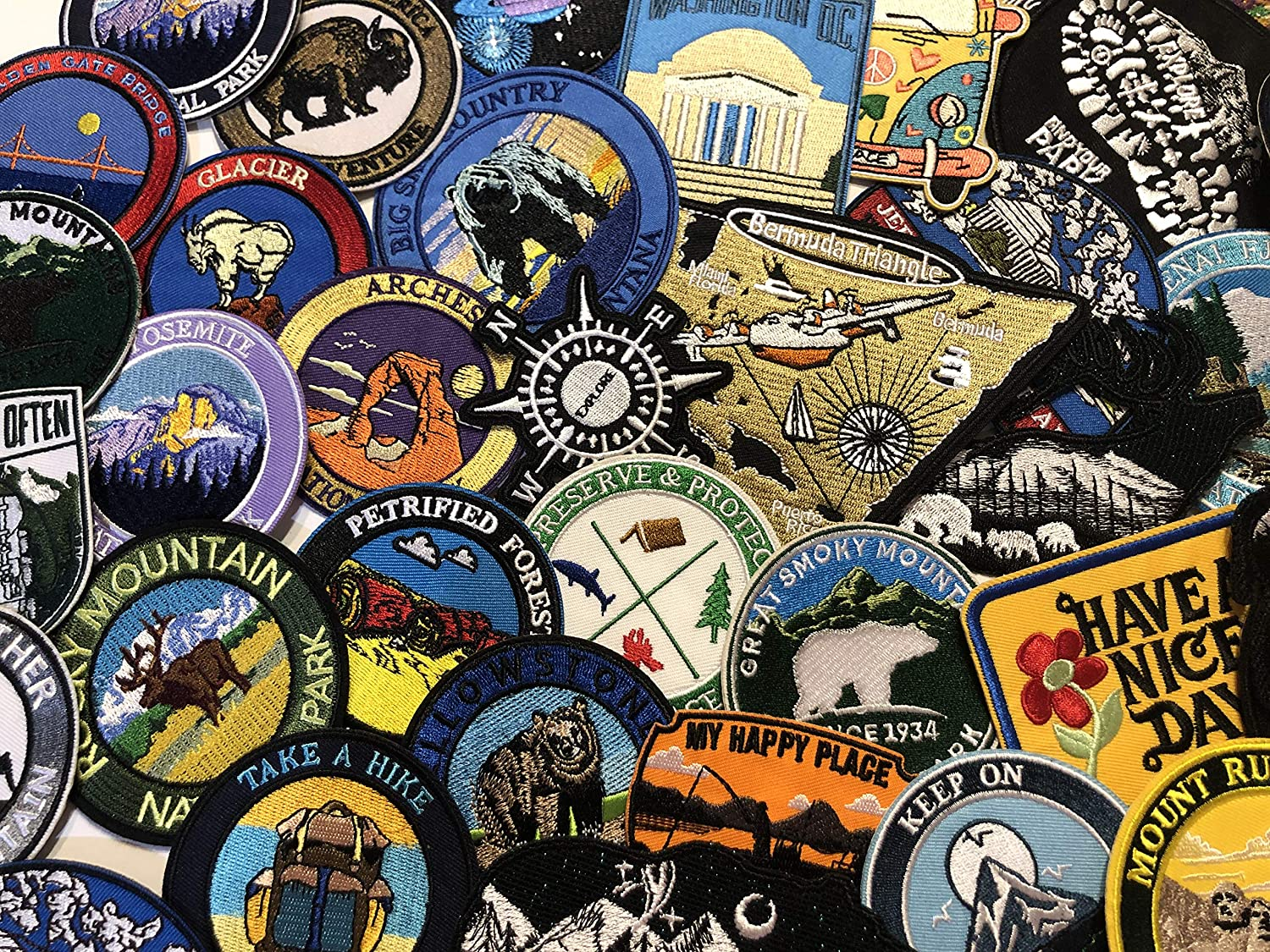 Go Where The Road Ends Embroidered Patch Iron Sew-On Vacation Souvenir Applique