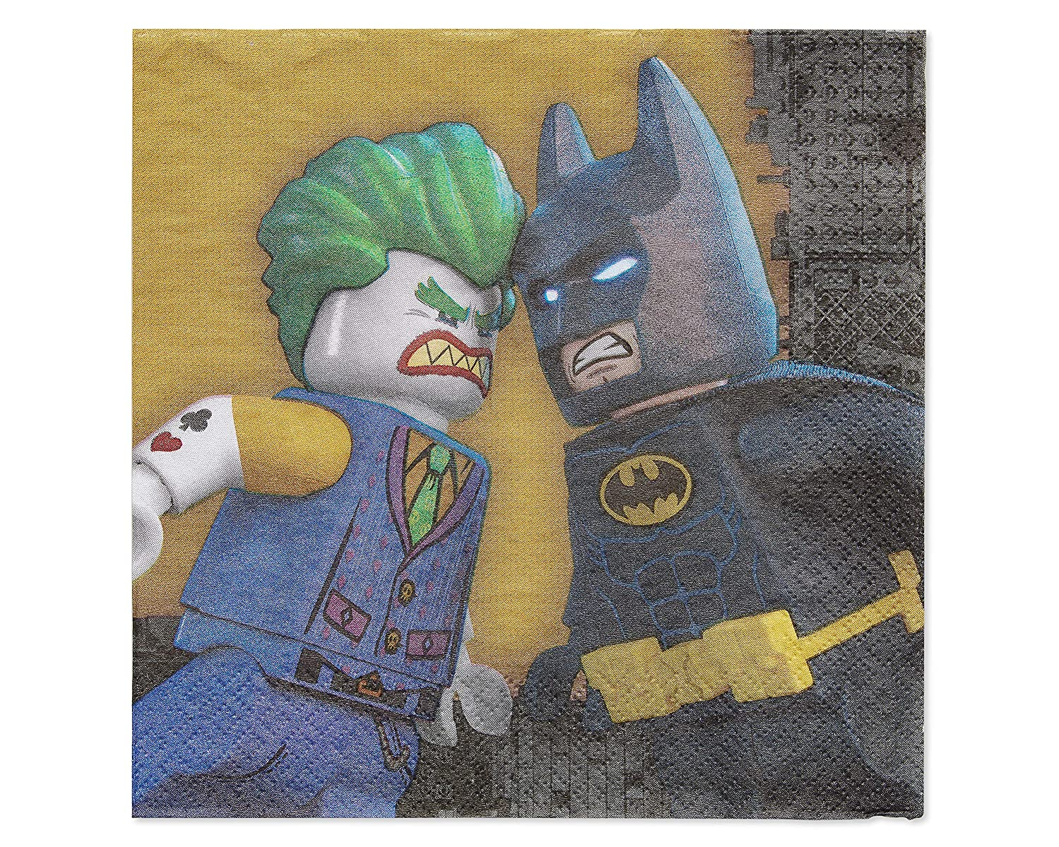 Toys 6020816 American Greetings Lego Batman Lunch Napkins 48-Count American Greetings