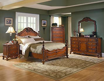 mousasgallery Set Luxe Chambre - Bois Massif - Style Antique ...