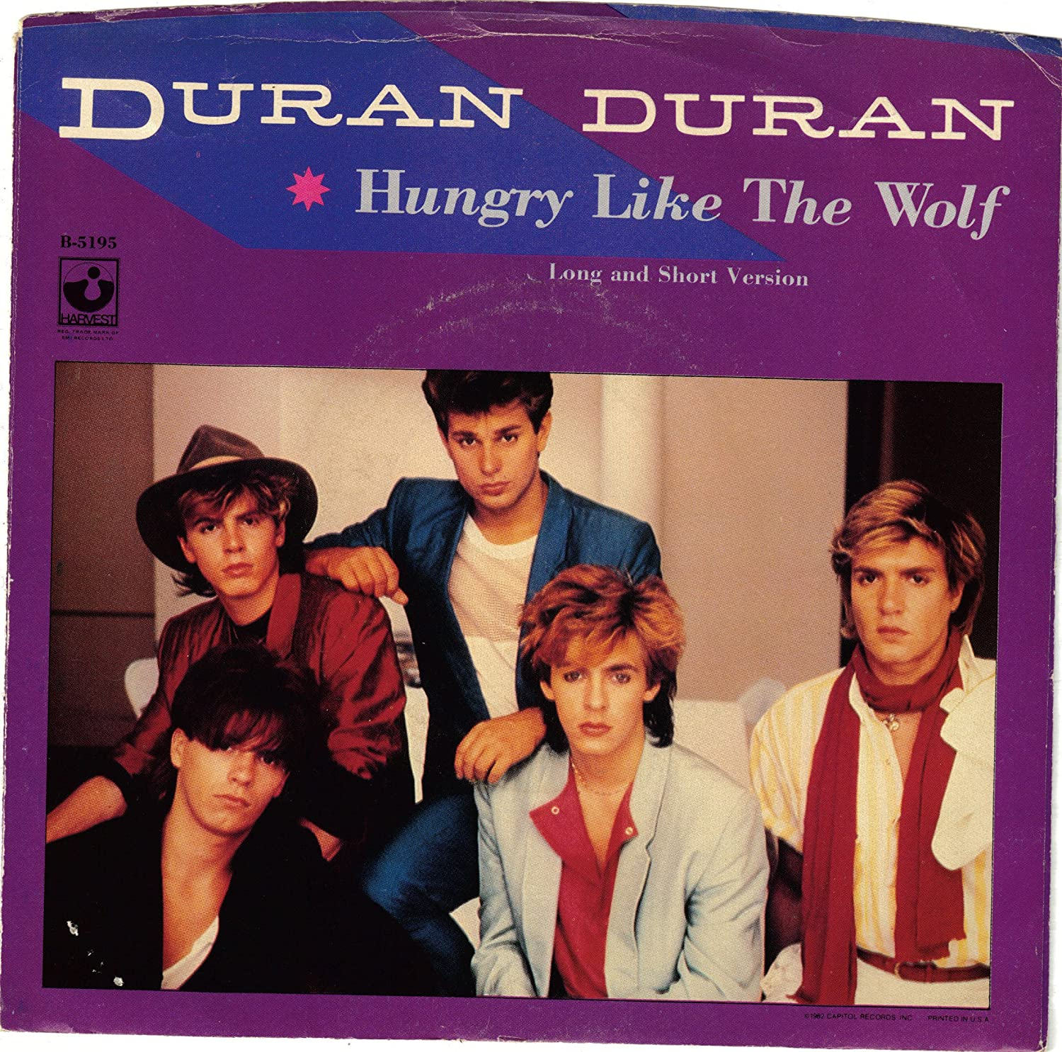 DURAN DURAN - DURAN DURAN   Hungry Like The Wolf   PICTURE SLEEVE ONLY! -  Amazon.com Music b027d09bfee5