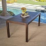 Marin Dark Brown Acacia Wood Outdoor Dining Table