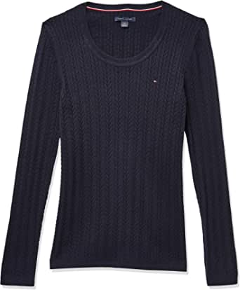 Tommy Hilfiger Women's Jenny Cable Scoop Sweater