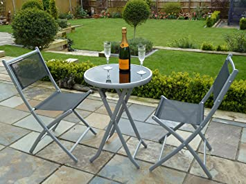 2 chairs and table patio set. uk-gardens 3 piece bistro set for 2 - folding garden patio chairs and table