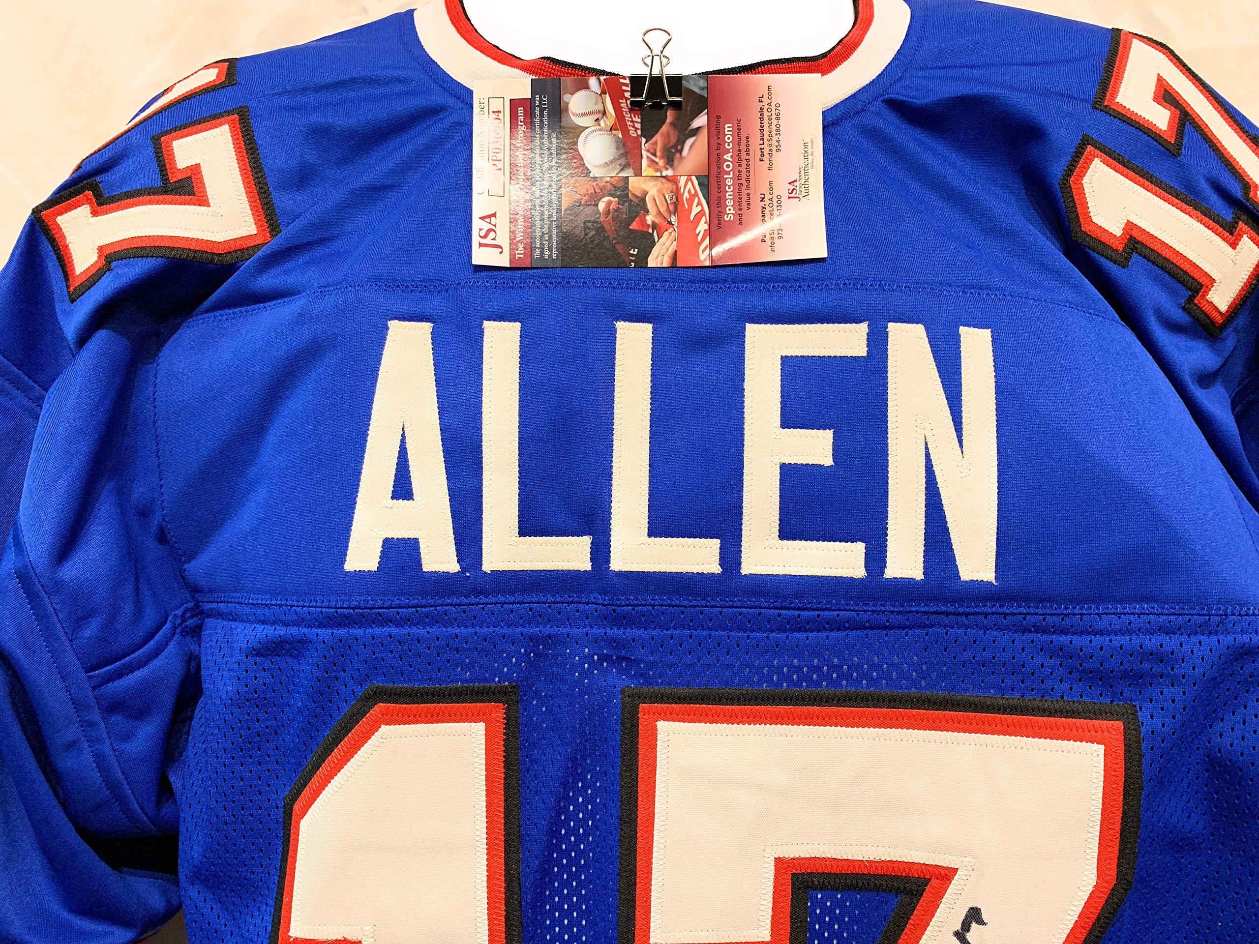 Josh Allen Buffalo Bills Signed Autograph Blue Custom Jersey JSA Witnessed Certified