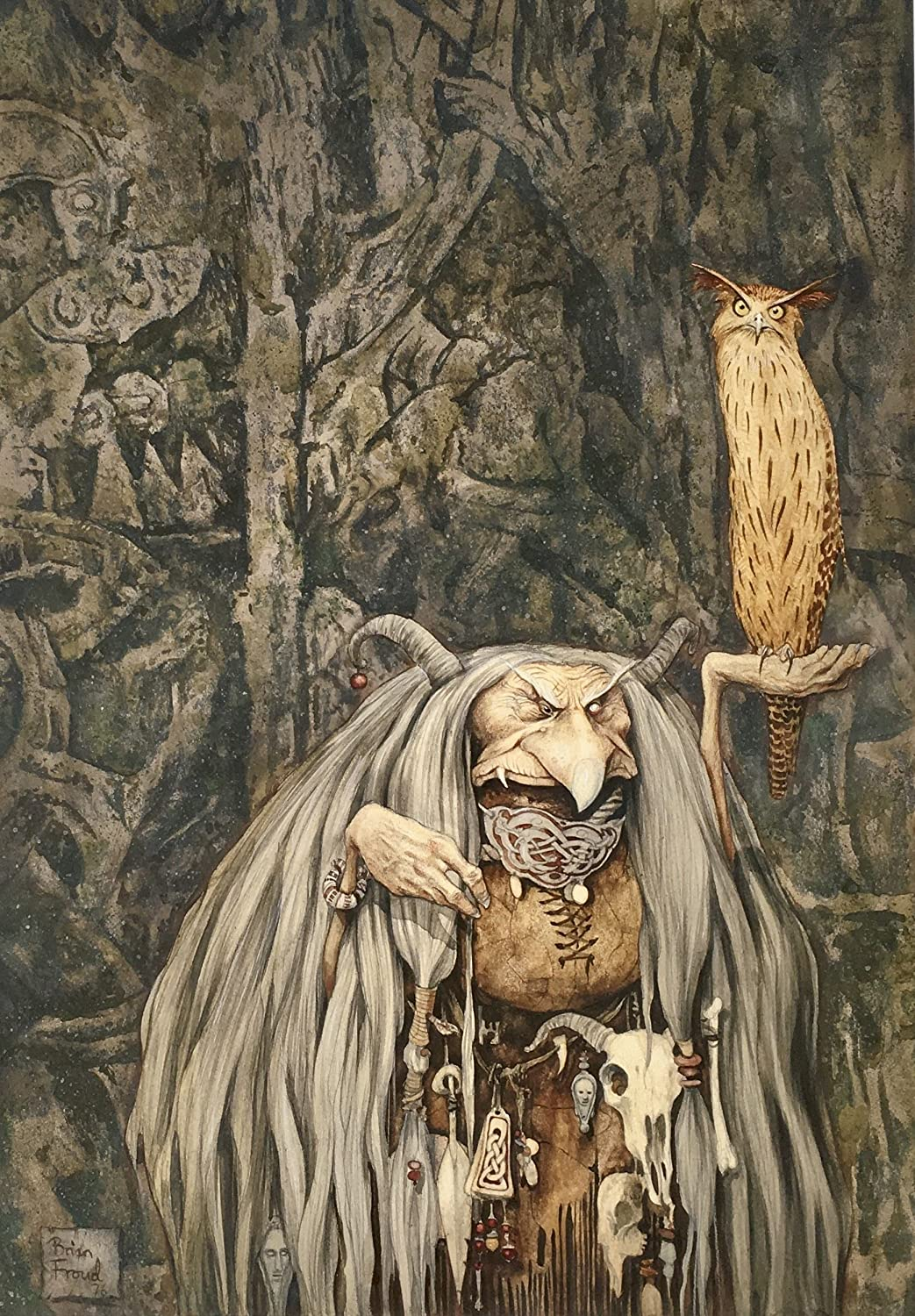 BRIAN FROUD Limited Edition Print 'WENGWA OF THE CRYSTAL EYE' SIGNED