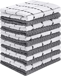 Utopia Towels 12 Pack Kitchen Towels, 15 x 25 Inches Cotton Dish Towels, Tea Towels and Bar Towels