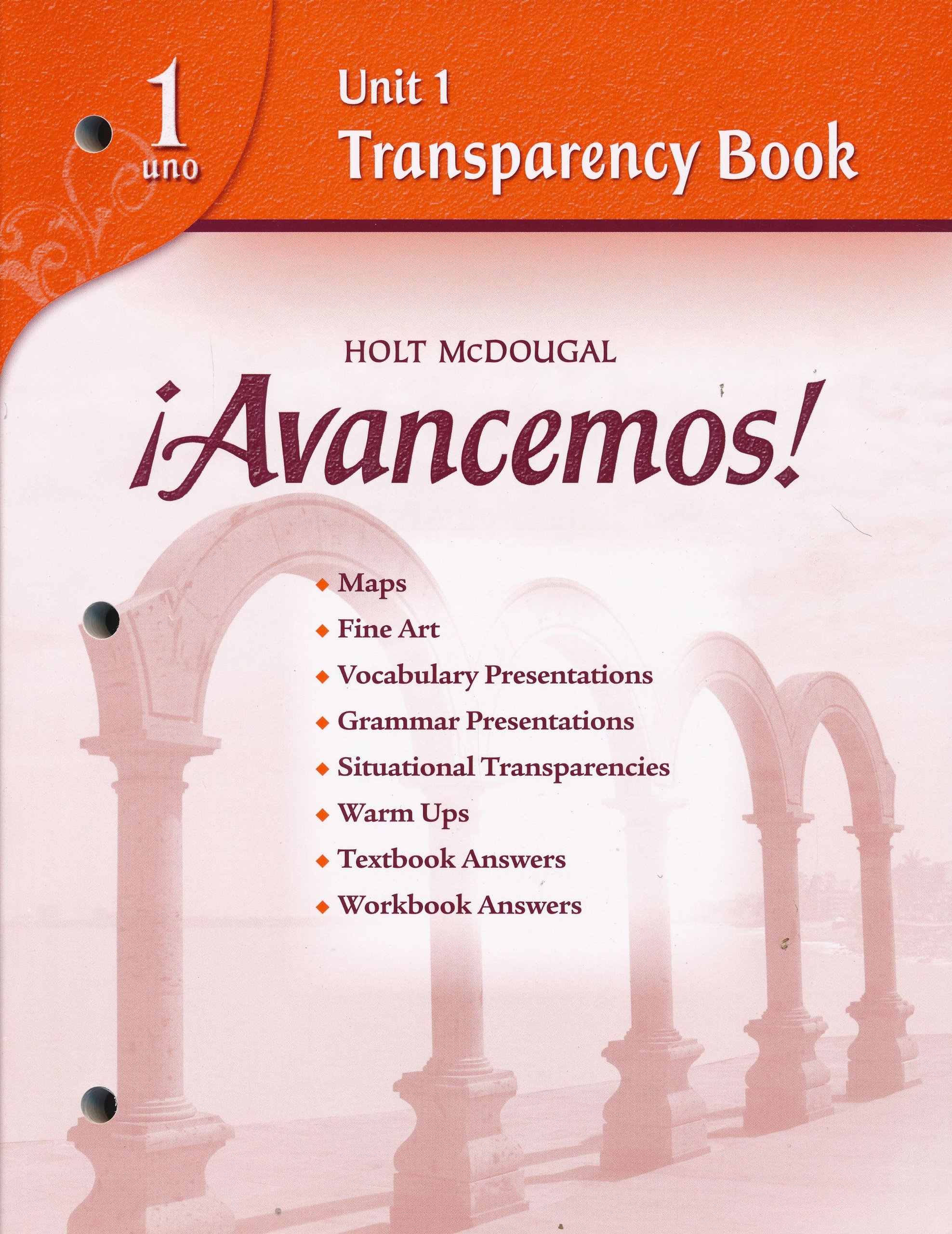Download Avancemos! 1 Unit 1 Transparency Book pdf