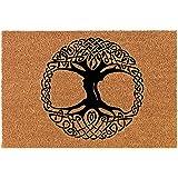 """Coir Doormat Front Door Mat New Home Closing Housewarming Gift Celtic Tree of Life Irish (30"""" x 18"""" Standard)"""