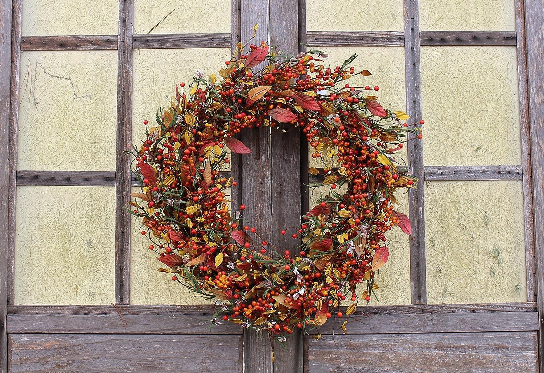 Appalachia Berry Silk Fall Door Wreath 22 inch