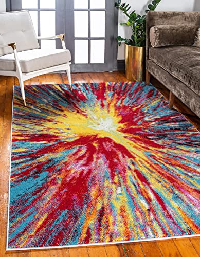 Unique Loom Lyon Modern Area Rug, 6 0 x 9 0, Multi