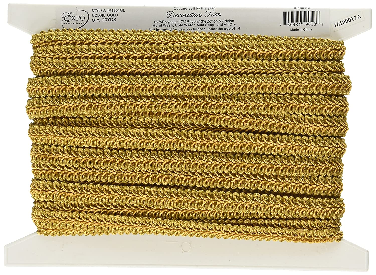 Expo International Alice Classic Woven Braid Trim, 20-Yard, Lime