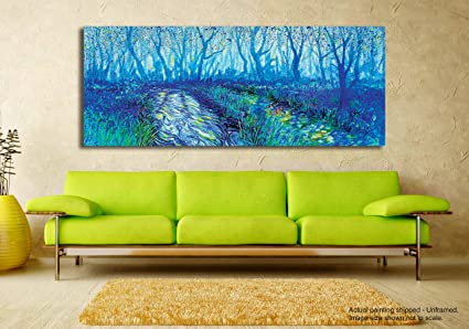 Tamatina Canvas Painting - Blue Forest - Modern Art Paintings for ...