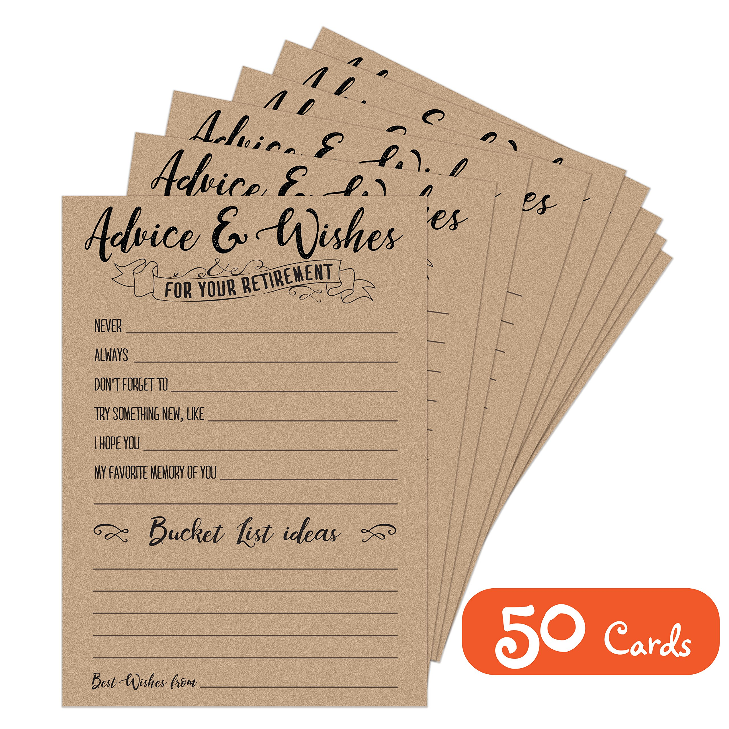 Retirement Party Advice and Wishes Cards   Party Decorations and Supplies for the Newly Retired   Guest Book Alternative by Twerp