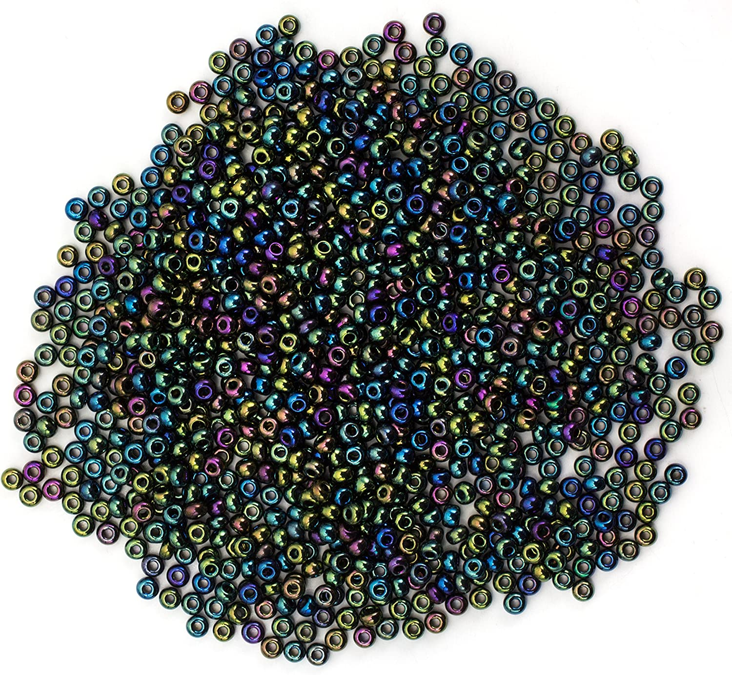 Etched Seed Beads Czech Glass CHOOSE COLOR 10g 11//0 2mm