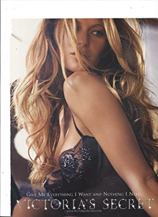 98f33cd44dd PRINT AD With Gisele Bundchen For Victoria s Secret Black Bra at Amazon s Entertainment  Collectibles Store