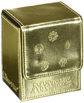 Ultra Pro - Juego de cartas Deckbox Magic Mana funda (oro ...