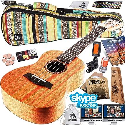 Amazon Ukulele Starter Kit 15 Free Bonuses Mahogany Uke