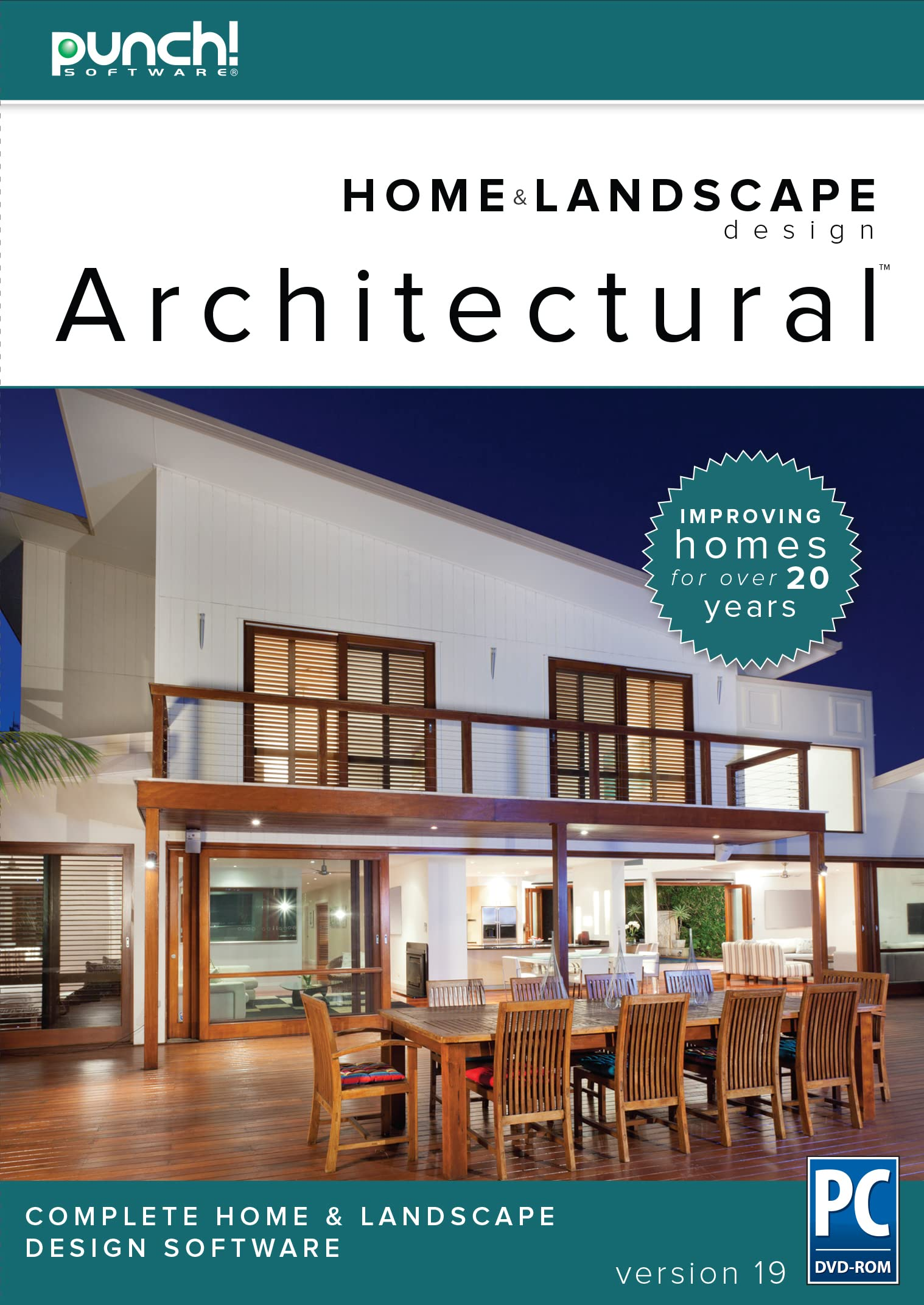 Amazon Com Punch Home Landscape Design Architectural Series V19 Home Design Software For Windows Pc Download Software