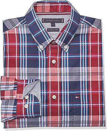 Tommy Hilfiger Midscale Check Shirt Camisa, Azul, Medium ...