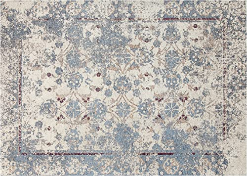 Chesapeake Chenille Nebula Pattern Vintage Area Rug with Carpet Back Long 7 3 x9 3