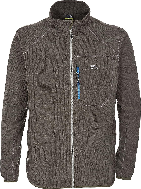 Trespass Zoro Mens Full Zip Warm Fleece Outdoor Walking Lightweight Jacket